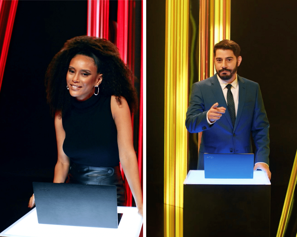 Vai de Lenovo: Taís Araujo e Evaristo Costa estrelam campanha da marca.