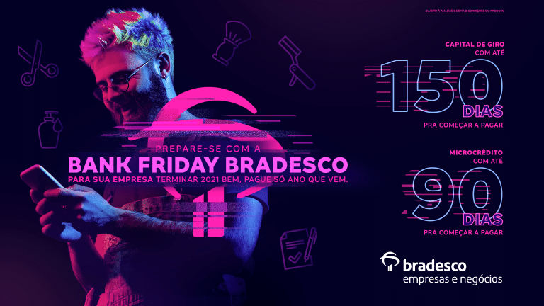 'Bank Friday Bradesco' promove pacote de benefícios para clientes do banco.